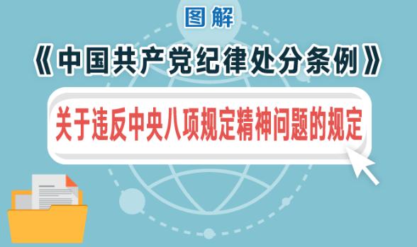 图解:《中国共产党纪律处分条例》关于违反中央八项规定精神问题的规定
