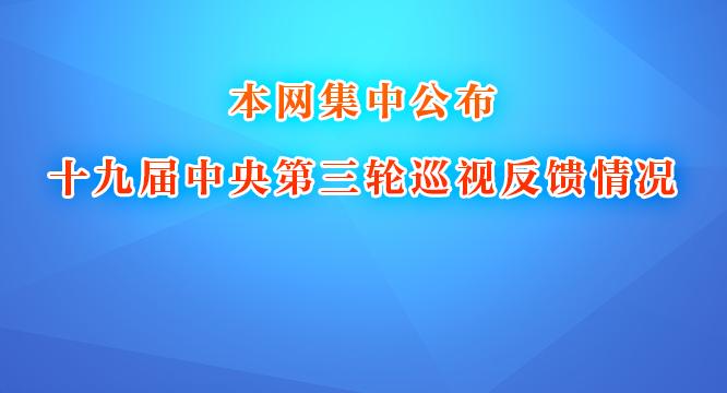 本网集中公布十九届中央第三轮巡视反馈情况