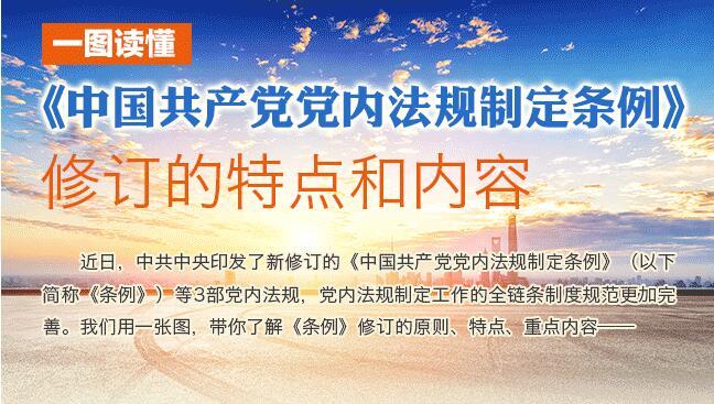 一图读懂   《中国共产党党内法规制定条例》修订的特点和内容