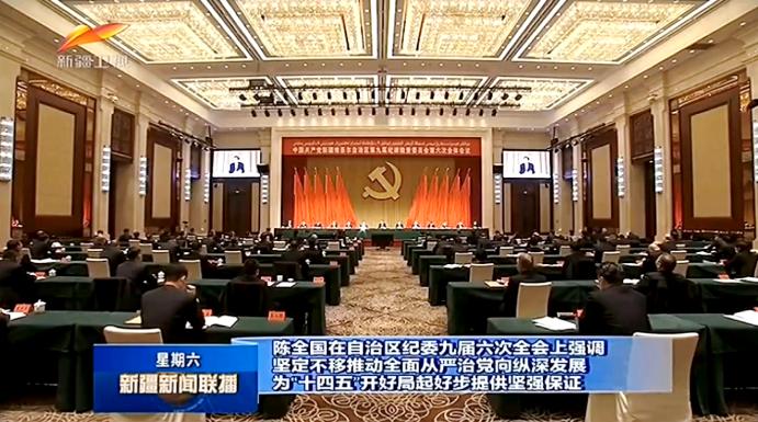 自治区纪委九届六次全会召开 陈全国出席并讲话