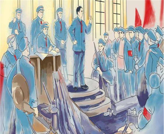 党史故事 | 第一面军旗的诞生